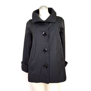 Gallery Size S Black Rain Resistant Jacket